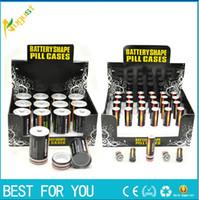 Wholesale C Battery Storage - new design battery stash stealth vapor pill case storage smoking D C AA size smoking metal pipe sneak a toke
