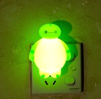 Wholesale Giant Plug - Wholesale- Green giant led night light lamp socket with switch plug creative small bulb feeding bedroom luminous energy