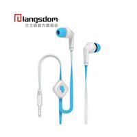 auriculares langston al por mayor-Langston auriculares estéreo de alta fidelidad con micrófono para teléfono móvil Xiaomi iphone con 3 colores paquete al por menor