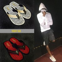 Wholesale Red Tip Toe Shoes - 2016 HOT HOT summer cool sandals 150 slipper flip flops outdoor Beach slipper Tip toe 40-44 kanye west shoe