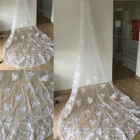 Wholesale Birdcage Lace Wedding Veil - In Stock Long Lace Bridal Veils With Comb Wedding Accessories One Layer Wedding Veils Head Veils