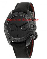 "Wholesale Moon Watch Chronograph - Luxury Wristwatch Fashion Watch Moonwatch Dark Side of the Moon ""Black Black"" Chronograph Black Dial Black Nylon Men's Watch 31192445101005"