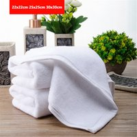 Wholesale Massage Center - A++ Good quality Cotton Square Towels Pure White Towel for Hotel&Massage Center Free Shipping Factory Wholesale