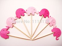 a buon mercato Mixed Pink Elefanti Party Picks - Cupcake Toppers - Stuzzicadenti - Food Picks matrimonio baby shower compleanno festa favori