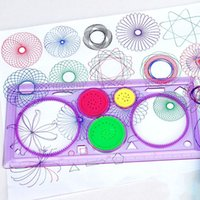 Wholesale art rulers resale online - Creative Gift Spirograph Geometric Ruler Drafting Tools Stationery For Students Drawing Toys Set Learning Art Sets For Children