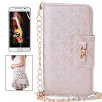 Wholesale Iphone Quilted Leather - Luxury Diamond Bow Knot Clutch Handbag Quilted Leather Flip Cover Wallet Case Bag for iphone 5 6 4.7 5.5