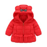 Wholesale Girls Long Down Winter Jacket - Factory Outlet!!! 2016 autumn and winter latest children down jacket girls Flounced hooded down jacket kids winter wear