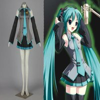 Wholesale Costum Hot - Hot Popular Vocaloid Hatsune Miku Cosplay Costum High Quality The Girl's Dress Cute For Adult Size