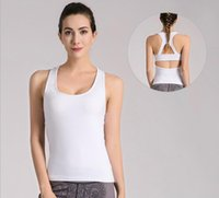 Wholesale skin tight clothes - Korean version of the new fashion fitness clothes running sportswear skin is not tight tension thin yoga pants with chest pad