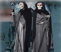 ingrosso suoni fantasma di halloween-Decorazione fantasma a grandezza naturale Death Scyth il reaper torvo Puntelli Induction Electronic Battery-operated Ghost Eerily Sounds Sticks