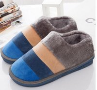 Wholesale Sewing Buttons Purple - Autumn and winter new home warm cotton home slippers couples with color cotton shoes fight slip