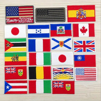 Wholesale Iron Patches Badge Flag - 2.6 inch Wholesale Italy Cannada flag patch Embroidered Iron On Patches Made of Cloth Guaranteed Appliques quality badge DIY Patch GPF-024