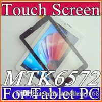 "Wholesale Touch Panel For Tablet Pc - OEM 7"" Capacitive Touch Screen Digitizer Panel TP for 7 inch 3G MTK6572 Call phone Phablet Tablet PC D-TP"