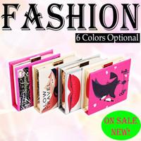 akşam vakti debriyaj çantası toptan satış-8 Renkler Kadınlar Dergisi Debriyaj Kapak Sanat Hard Case Gazete Çanta Çanta Gece Çantası Omuz Çantaları Ziyafet-R8228