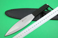 ingrosso lama di caccia di lama riparata-Brown A047 Survival lama fissa lama 5Cr17 57HRC lama coltello Bat Outdoor Camping escursionismo caccia sopravvivenza dart coltelli