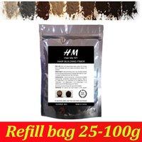 Wholesale Treatments For Hair Keratin - Natural keratin hair building fibers powder 50g black dark brown 9 colors for hair loss treatment
