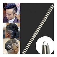Wholesale Dying Tool - New RAZOR Sharp Pen Hair Tattoo Trimming Tool With Blades Salon Engraved Pen Stainless Steel Pen Shavings Eyebrows Beauty Set Free Shipping