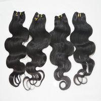 Wholesale Cheap Good Quality Bundles - 6pcs lot Cheap Unprocessed Human Hair Good Quality Indian Body Wave bundles Fast Delivery