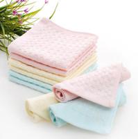 ingrosso baby set personalizzato-Il migliore regalo Cotone 32 parti pianura piccolo bambino quadrato che pulisce fazzoletto forniture per neonati asciugamano personalizzato TL011 mescolare l'ordine come le vostre esigenze