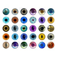 Wholesale Animal Snap Watches - 60pcs  lot pupil eyes glass snap button charm jewelry watches women for bohemian leather bracelets GS2787 one direction jewelry making