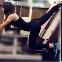 schöne strumpfhose hose großhandel-Wholesale-2016Fashion Yogahosen für Frauen Enge Sportwear Schöne Leggings Hohe Elastische Dünne Sport Yogahosen Laufhose Legging