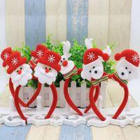 Wholesale Acrylic Hair Bands - Christmas Decorations LED Light Santa Claus Headband Head Christmas Xmas Party Headwear Hair Band Decorations Christmas Gift Children MC10