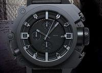 alfiler oscuro al por mayor-The Dark Knight Rises Edición limitada DZWB0001 DZ4243 Negro Silicona Hombres Relojes deportivos Reloj azul claro para hombres