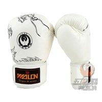 Wholesale Gloves Hit - Men's cool dragon fist glove gloves hit boxing gloves leather mitones de boxeo boxing equipment kick boxing gloves boxing mitts