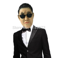 Wholesale Psy Gangnam - PSY Park Jae-Sang latex Mask Korean Celebrity Gangnam Style Mask for Costume Cosplay All Party Free Shipping