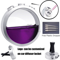 Wholesale Glass Aroma Diffuser Essential Oils - New Arrivals Water Drop (41mm) Glass Car Diffuser Locket 316 Stainless Steel Car Aroma Locket Essential Oil Car Diffuser Lockets