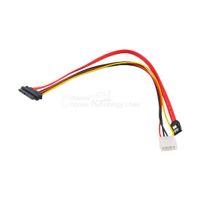 жесткий кабель оптовых-Wholesale- New 40cm 15+7 Pin Power Data to 4 Pin IDE Power SATA Data Hard Cable