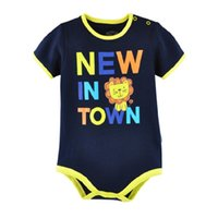 Wholesale One Piece Body Dress - Wholesale Baby Clothes Newborn Bodysuits 100% Cotton Soft Infant Body For Baby One-piece Dress Toddler Jumpsuit Tops T-Shirts