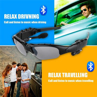 Wholesale Android Telephones - Smart Glasses Outdoor Sports Sun Glasses Stereo Wireless Bluetooth Headset Telephone Polarized Driving Sunglasses mp3 Riding Eyes Glasses