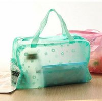 Wholesale Cheap Cosmetic Packaging - Hot Cheap Household Toiletries Men And Women Multifunction Storage Bag Admission Package Women Cosmetic Bag Bathing Waterproof Pouch