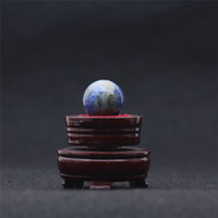Wholesale Living Sphere - HJT 39g Wholesale Natural Lapis lazuli Gemstone Sphere ball Lapis lazuli healing sphere for sale Home Decorations small crystal ball 26mm