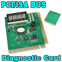 Wholesale Debug Post Card - High Quality PCI & ISA Motherboard Tester Diagnostics Display 4-Digit PC Computer Mother Board Debug Post Card Analyzer