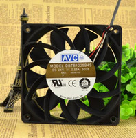 Wholesale Large 24v Fans - Genuine AVC DBTB1225B4S 12CM 120*120*25 24V 0.55A three wire large wind fan