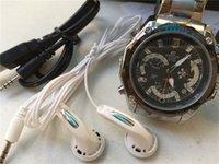 Wholesale Spy Waterproof Mp3 Watch - 1280x960 30FPS 8GB MP3 Player Waterproof Watch and Spy Watch Camera Hidden DVR Mini DV