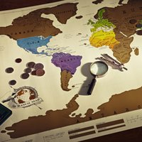 Wholesale Visual Paper - Deluxe Edition Scratch Map With Scratch Off Layer Visual Travel Journal World Map For Educatioin 88 x 52cm
