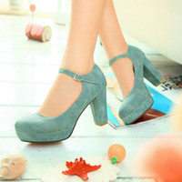 Wholesale Wide Fat Woman - Spring and summer high high-heeled shoes mm code fat women shoes for foot feet wide foot foot thick fat fat foot instep instep high