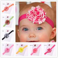 Wholesale Valentines Hair Accessories - 16 pcs Shabby Chiffon Flower Headband Valentines Baby Headband Baptism Headband Newborn Baby Hair Accessories