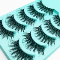 Wholesale Thick Synthetic False Eyelashes - 2016 New Thick False Eyelashes High Quality Natural False Eyelashes Cross Thick False Eyelashes Tool Makeup
