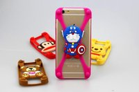 Wholesale Minion Silicone Galaxy S3 Cases - 3D Cartoon Minnie Teddy Kitty Minions Universal Rubber Silicone Phone Bumper Case For Iphone 6 6S 6 Plus Samsung Galaxy S3 S4 S5 S6 Edge