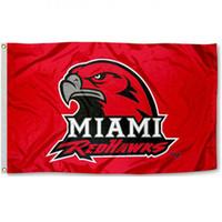 Wholesale Car Flag Usa - Miami team University logo Flag National Cubs Polyester Flag USA Football Hockey Baseball College Car Flags
