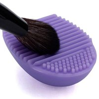 Compra Pro Pulire-Makeup Brushegg Guanti da lavaggio MakeUp Washing Pro Makeup Cosmetici Cosmetici Make-up Viso Spazzola Viso Detergente Silicone Makeup Lavaggio Brush Cleaner Egg