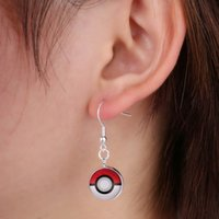 Wholesale Crystal Gemstone Ball - Best Poke Earrings Pokeball PokéMon Go Pocket Monster Earring Game Poke Ball Halder Time Gemstone Silver Plated Dangle Earring Jewelry