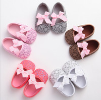 Wholesale Rubber Bands Single - Cheap baby toddler shoes spring & autumn baby soft bottom shoes Pretty bow casual shoes girl indoor single shoes 12pair 24pcs B3