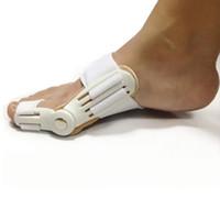 llave de dedo del pie valgo al por mayor-1Pieza Dispositivo de juanete Hallux Valgus Pro Ortopédico Tirantes Corrección de los pies Corrección Cuidados Corrector Pulgar Buenas noches Daily Big Bone Orthotics
