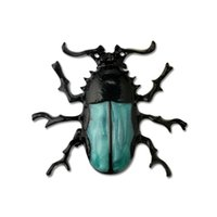 Compra Spilla All'ingrosso Blu-Moda Steampunk Nero Blu Smalto Lega di Zinco Entomologia Insetto Scarabeo Beetle Bug Spilla Pin Spille Figural Monili di Costume All'ingrosso