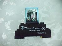 ingrosso relè a bassa potenza-MY4N-J 220 / 240VAC 5A Omron New Voltage Relay Low Power con base Garanzia di alta qualità per due anni
